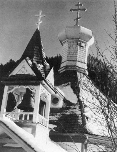Old Russain Orthodox church at Juneau