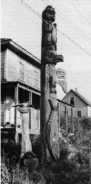 Saxman, 1938, native wood carving